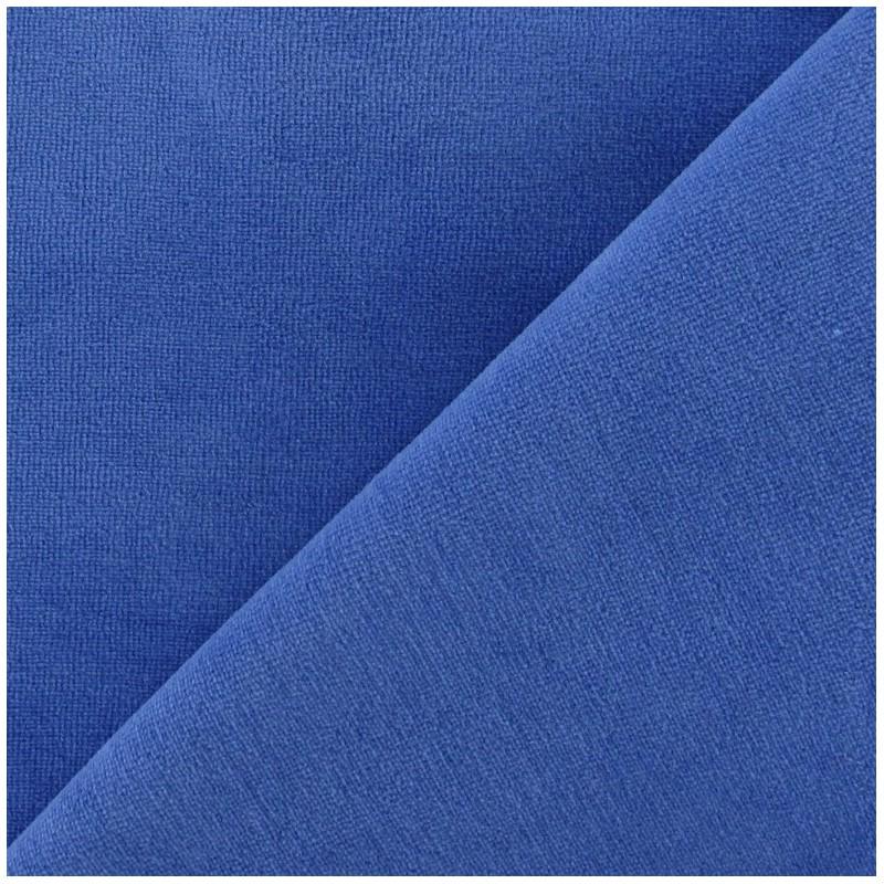 Jersey Sponge Velvet Fabric French Blue X 10cm Ma
