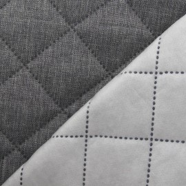 Husky Quilted Fabric - Light Grey x 10cm