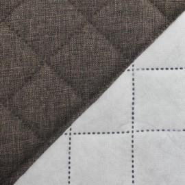 Tissu matelassé Husky brun x 10cm