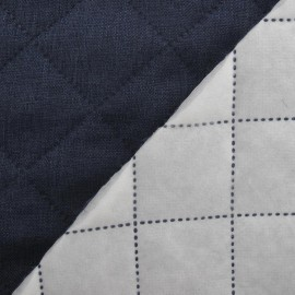 Husky Quilted Fabric - Denim Blue x 10cm