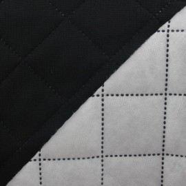 Husky Quilted Fabric - Black x 10cm