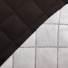 Husky Quilted Fabric - Brown x 10cm
