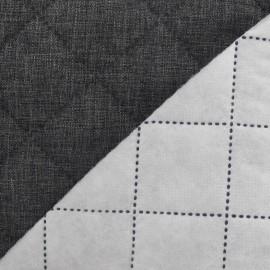 Husky Quilted Fabric - Dark grey x 10cm