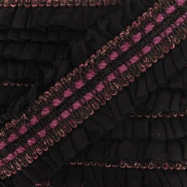 Double Pleated braid trimming x 20cm - fuchsia