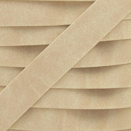Imitation buckskin bias binding - ivory