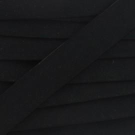 Imitation buckskin bias binding - black