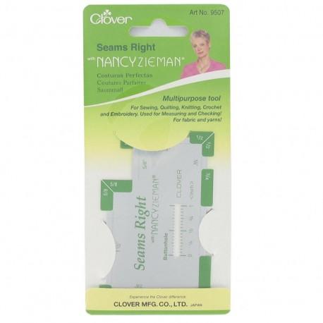Seams right multipurpose measuring tool - White/green