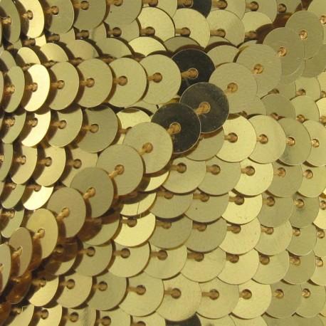 Galon paillettes doré 6 mm