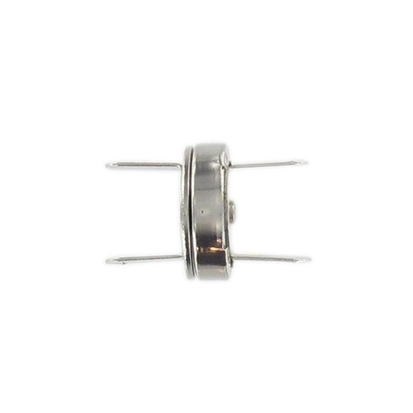 Fermoir magnétique 18 mm nickelé