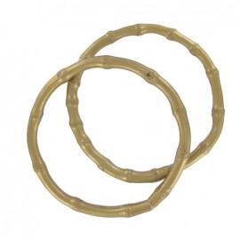 Bamboo round-shaped Bag handles - golden