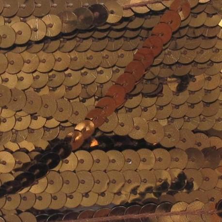 Galon paillettes bronze 6 mm