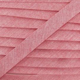 Denim Chambray bias binding - red