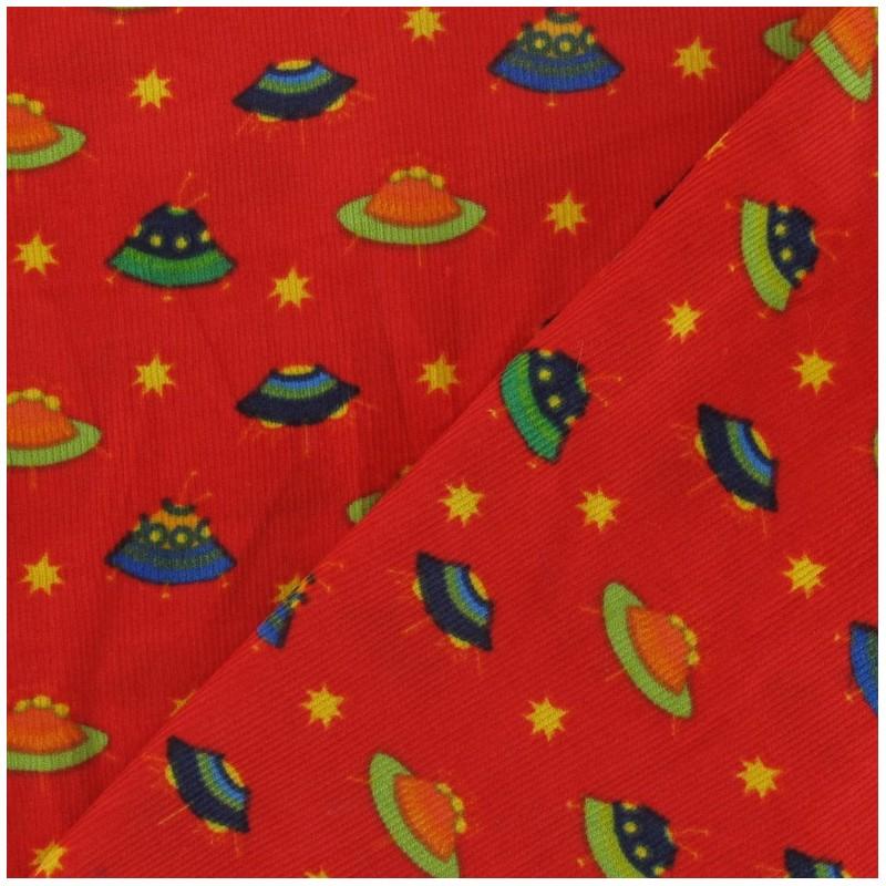 Milleraies spaceship velvet fabric red x 10cm ma for Spaceship fabric