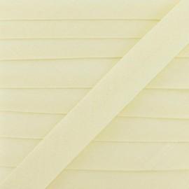 ♥ Coupon 175 cm ♥ Multi-purpose-fabric Bias binding 20mm - ecru