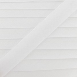 Multi-purpose-fabric Bias binding 20mm - white