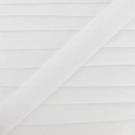 Multi-purpose-fabric Bias binding 20mm - white