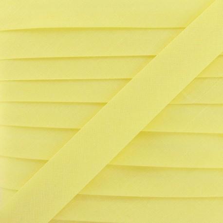 Biais Tout Textile jaune paille 20 mm