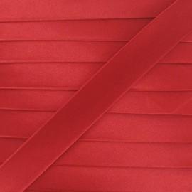 Satin bias binding, 20 mm - red