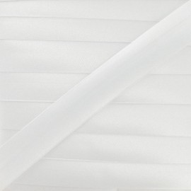 Satin bias binding, 20 mm - white