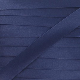 Satin bias binding, 20 mm - navy