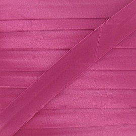 Satin bias binding, 20 mm - fuchsia