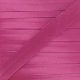 Satin bias binding, 20 mm - fuchsia
