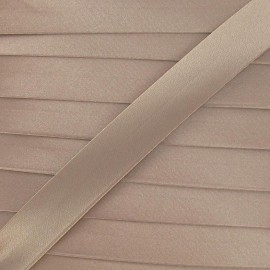 Satin bias binding, 20 mm - beige