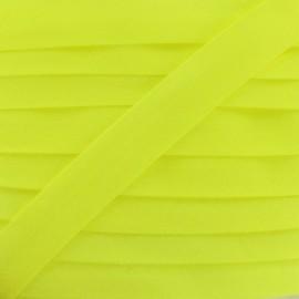 Ruban biais uni fluo jaune