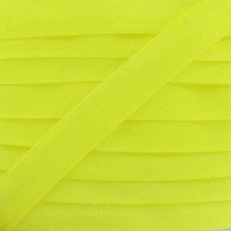 Ruban biais unis fluo jaune