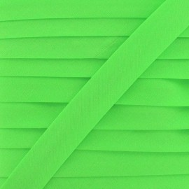Bias binding ribbon, plain - fluorescent green