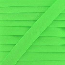 Ruban biais uni fluo vert