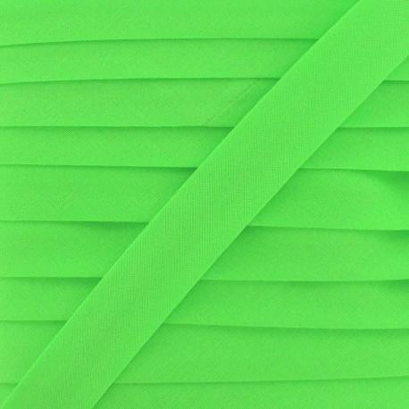 Ruban biais unis fluo vert