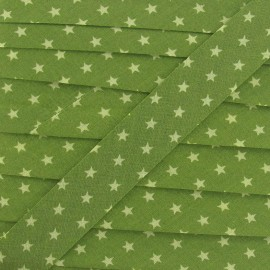 Froufrou bias binding, Star, Olive tree Garden A - green