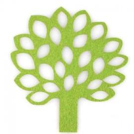 Felt-fabric Tree iron-on applique - light green