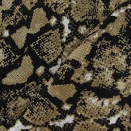 Tissu Gabardine Reptile sable x 10cm