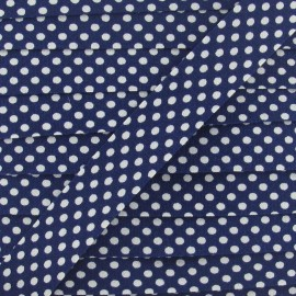 Cotton Bias binding,with white polka dots - navy