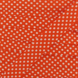 Biais coton à pois blanc/orange