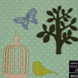 4 motifs feutrine Nature papillon