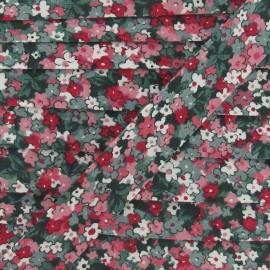 Biais fleuri pensées roses