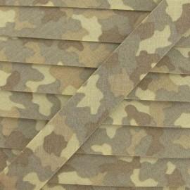 Biais fantaisie camouflage sable