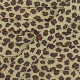 Bias Binding, leopard - beige