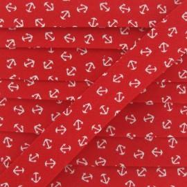 Bias Binding, white anchor - red