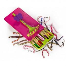 Kit Outil-tisseur bracelets de l'amitié rose