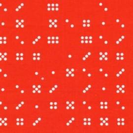 Tissu Domino Dot Clementine x 10cm