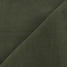 Tissu velours milleraies kaki 300gr/ml x 10cm