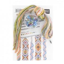 Kit Bracelets brésiliens avec perles Pastell Set