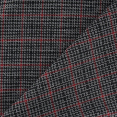 Small Scottish tartan Fabric - Grey x10 cm