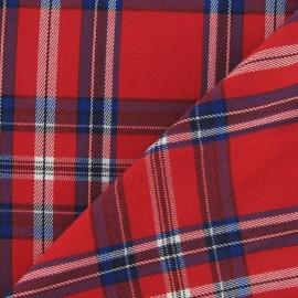 Tissu tartan carreaux rouge x 10cm