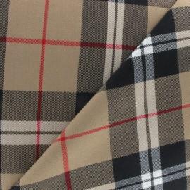Tissu tartan écossais sable x10cm