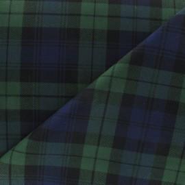 Tissu tartan écossais kaki x10cm